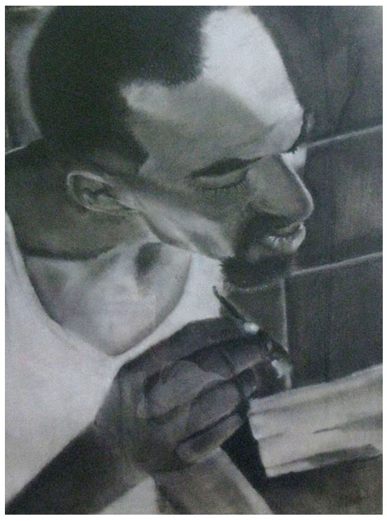 Cholo (Charcoal on Paper)
