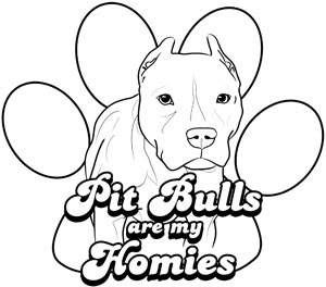 Pitbull Dog Coloring Page Printable