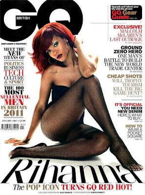 rihgq Rihanna Covers and Featured in GQ UK Jan. 2011.
