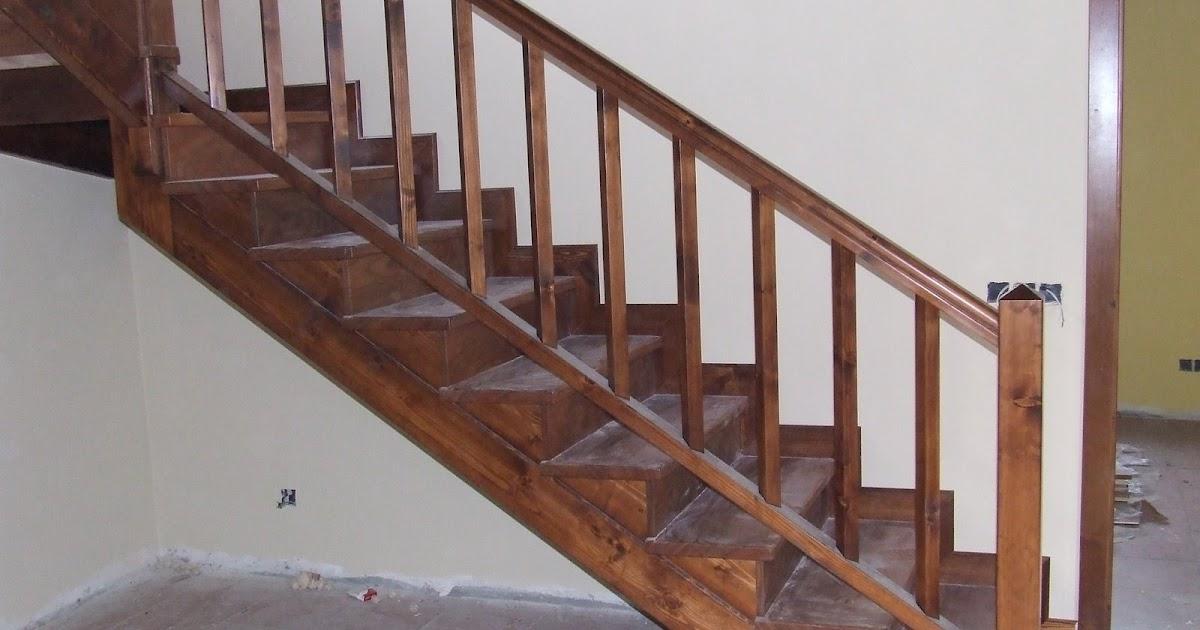 Escaleras De Madera Escaleras Cerradas Con Contrahuella