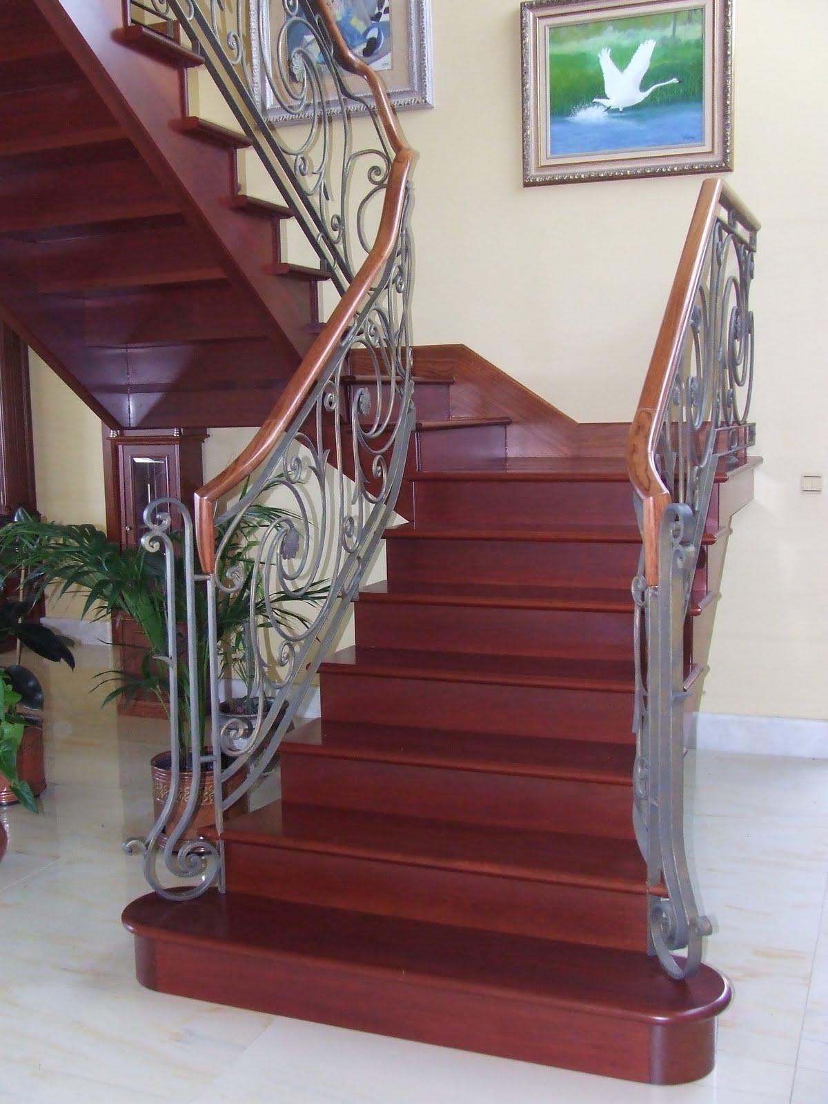 Escaleras de madera armonia entre madera y metal - Escaleras de madera ...