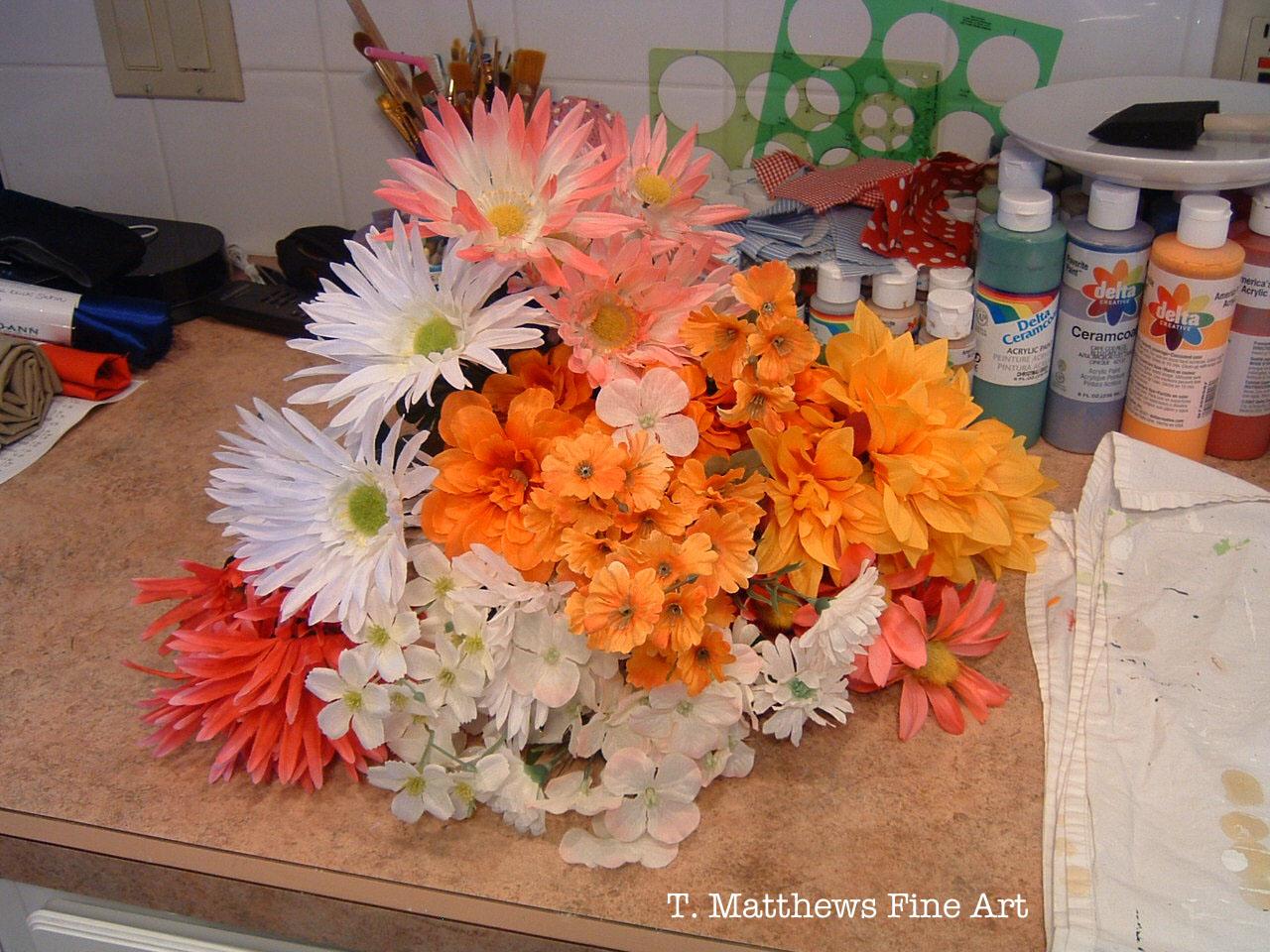 T. Matthews Fine Art: New Hair Flowers