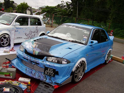 Modified Proton Wira Aeroback by Jine Auto