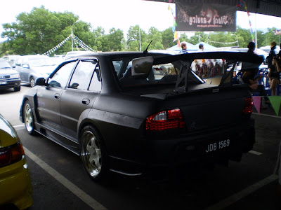 Matte Black Wira Sedan wide body Evo body kit
