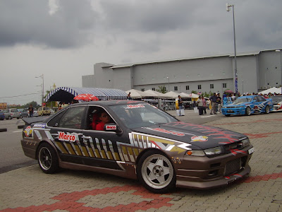Nissan Cefiro A31 drift car with ducktail spoiler