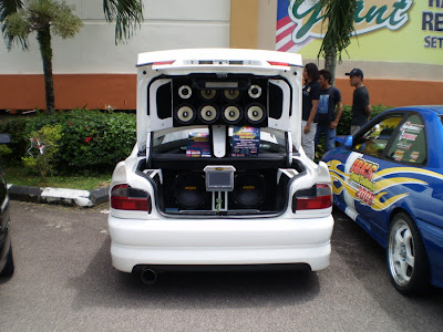Proton Wira audio car