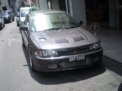 Proton Wira converted to Mitsubishi Lancer Evolution