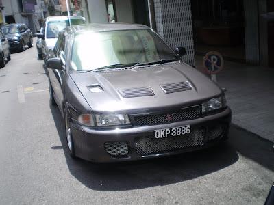 Proton Wira converted to Mitsubishi Lancer Evolution