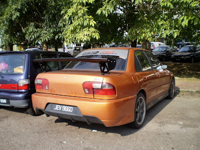 Wira with Evo IX rear bumper and GT spoiler