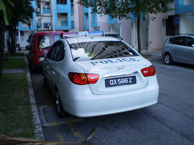 Hyundai avante s police car