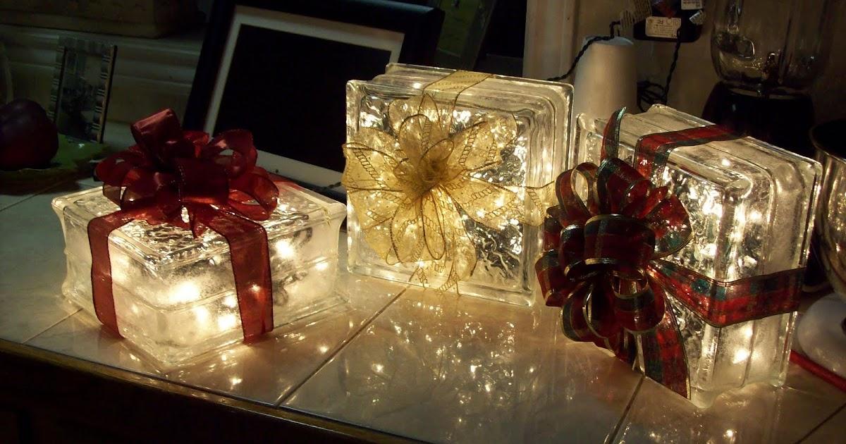 Glass Block Christmas Light