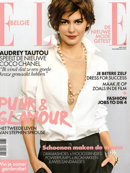 audrey tautou elle belgium april 1 audrey tautou short hair