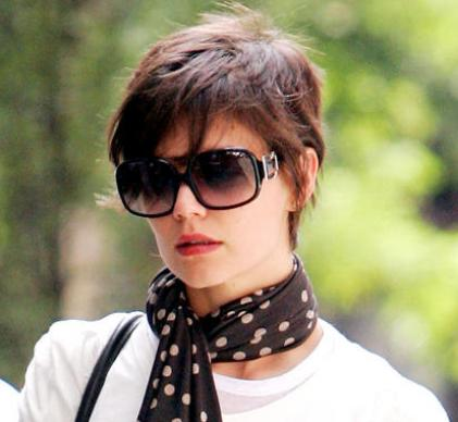 katie holmes hair color