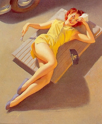 Bill Medcalf classic pin up