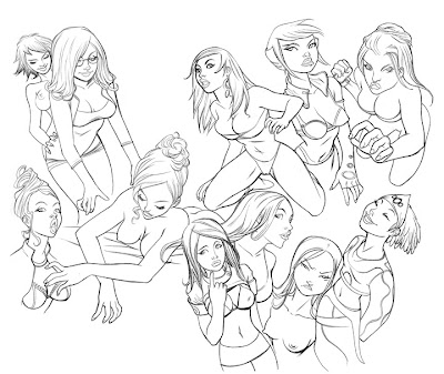 Girls Scetches