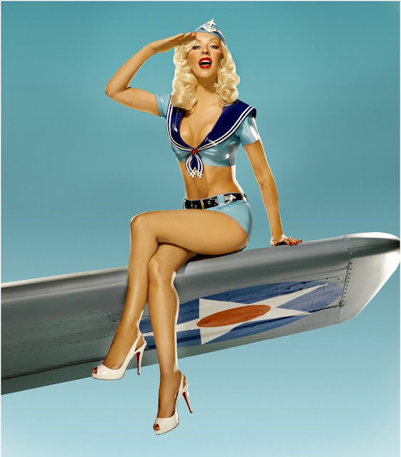 Christina Aguilera Pin Up Photos