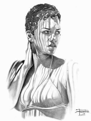 Halle Berry Pencil sketch