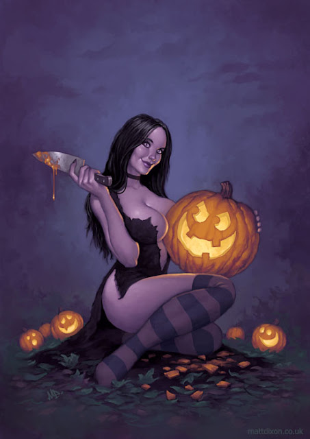 Halloween Pin Up Girl
