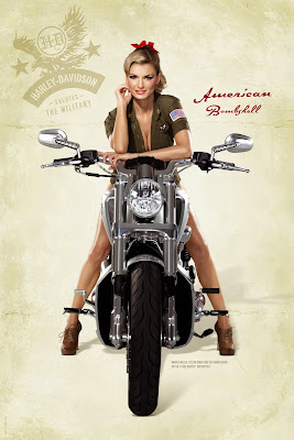 Marissa Miller and Harley Davidson 2