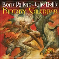 Boris Vallejo and Julie Bells Fantasy Calendar 2011