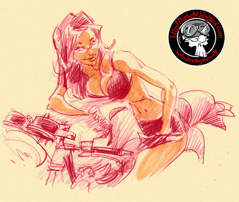 pin up girl and bike