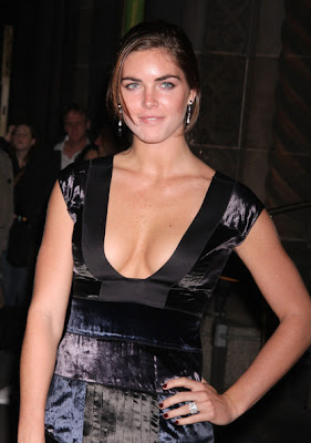 Hilary Rhoda Lovely With Cleavage Dress Style