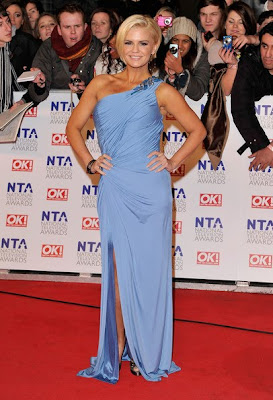 Kerry Katona Looks Elegant In One Shoulder Dress