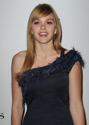 Aimee Teegarden Looks Elegant In One Shoulder Dress