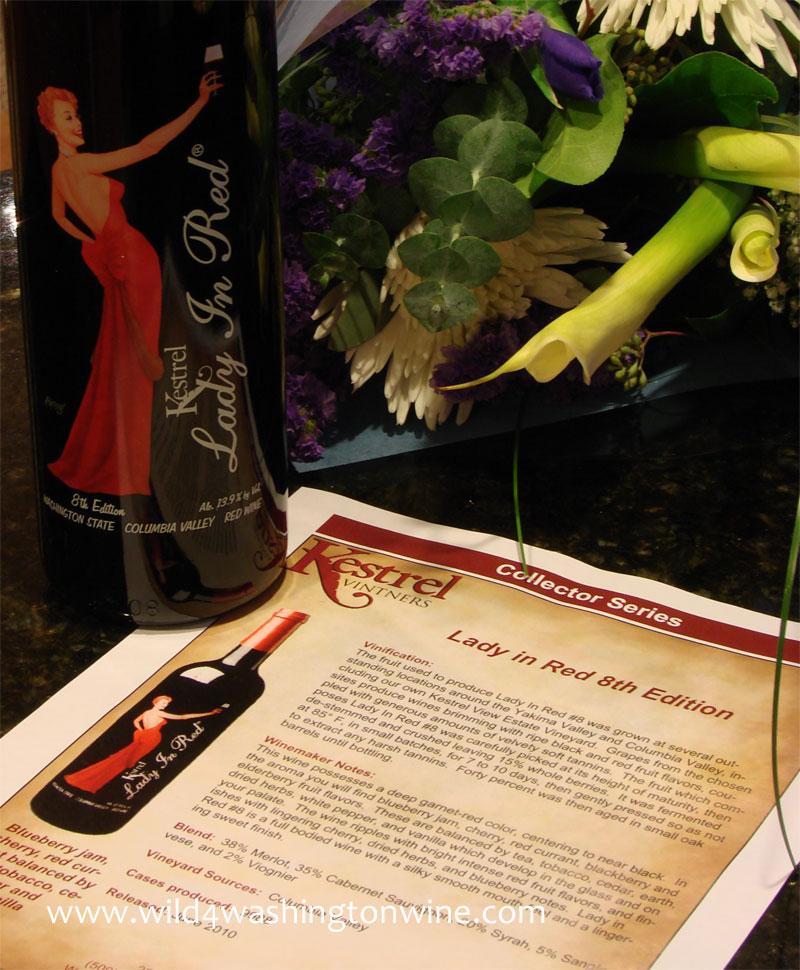 Kestrel Lady In Red