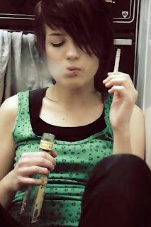 Meninas fumando