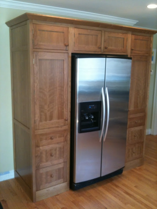 Kitchen Cabinets With Built In Fridge