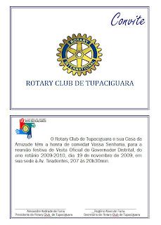 VISITA GOVERNADOR ROTARY CLUB DE TUPACIGUARA