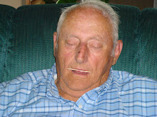 Grandpa fell asleep again...this time with a toothpick in his mouth!