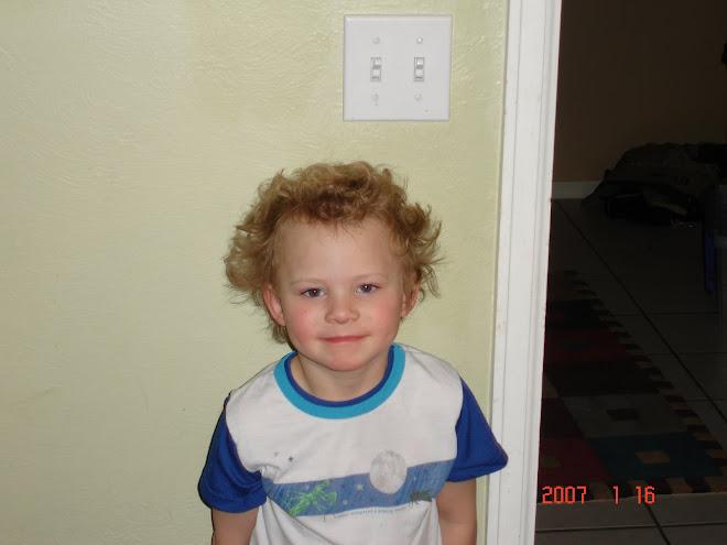 Parker's wild hair day!