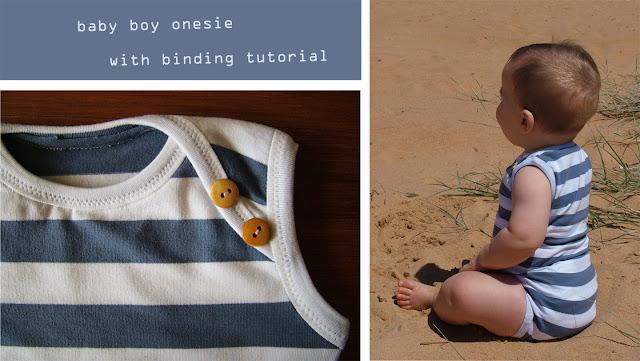 omi creates: baby boy onesie with binding tutorial