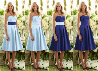 Blue Bridesmaid Dresses 2011