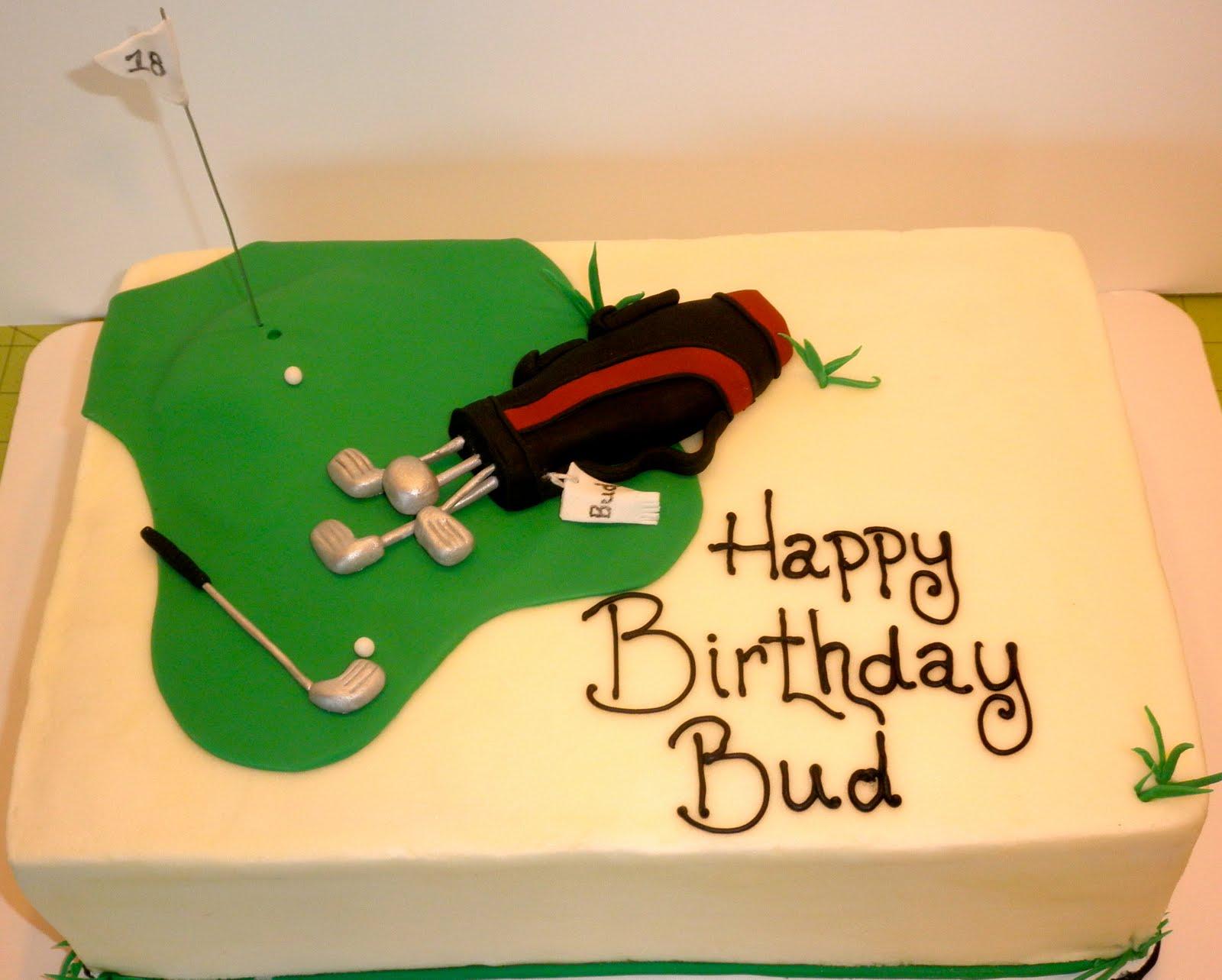 Sweet Ts Cake Design Golf Birthday Sheetcake