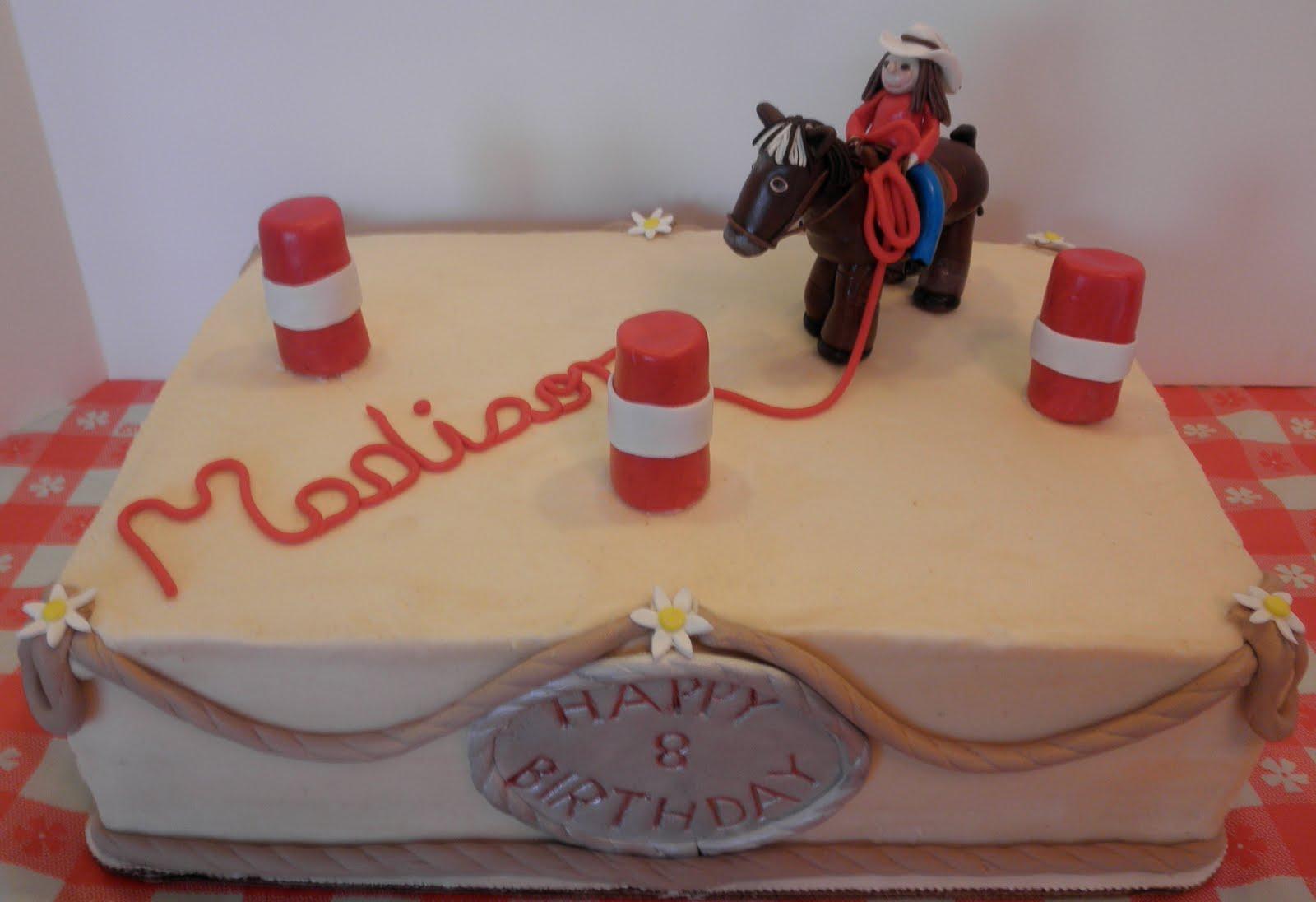 Sweet Ts Cake Design Horse And Barrel Racing Birthday Sheetcake