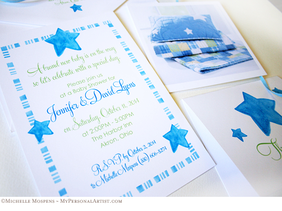 baby shower invitations Blue Baby Invitations