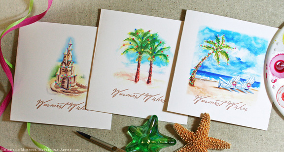 My personal artist custom invitations studio blog tropical tropical christmas cards you are shore to love m4hsunfo