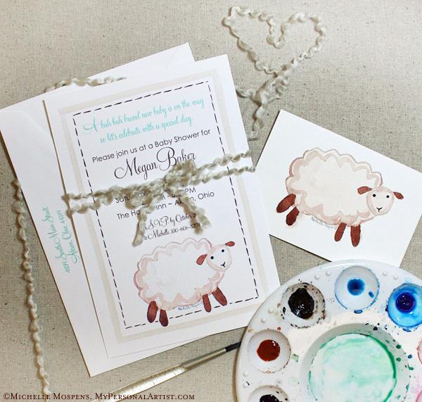 invitations studio blog hand painted lamb baby shower invitations