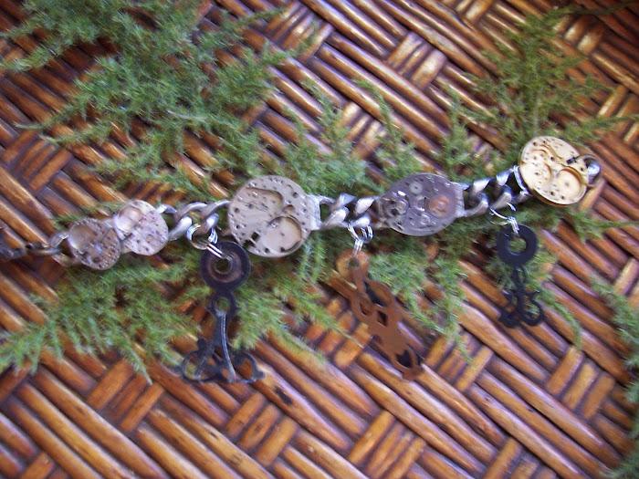 Vintage Assemblage Steampunk Bracelet