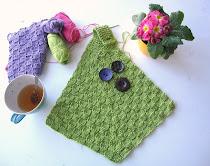 Oppskrift på strikket tørkehåndkle