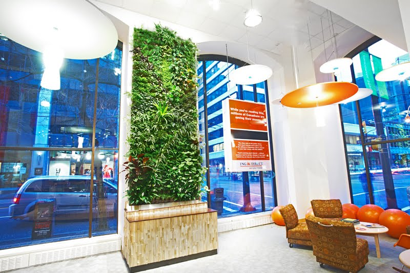Lively elements living murals for interiors for Green wall vancouver