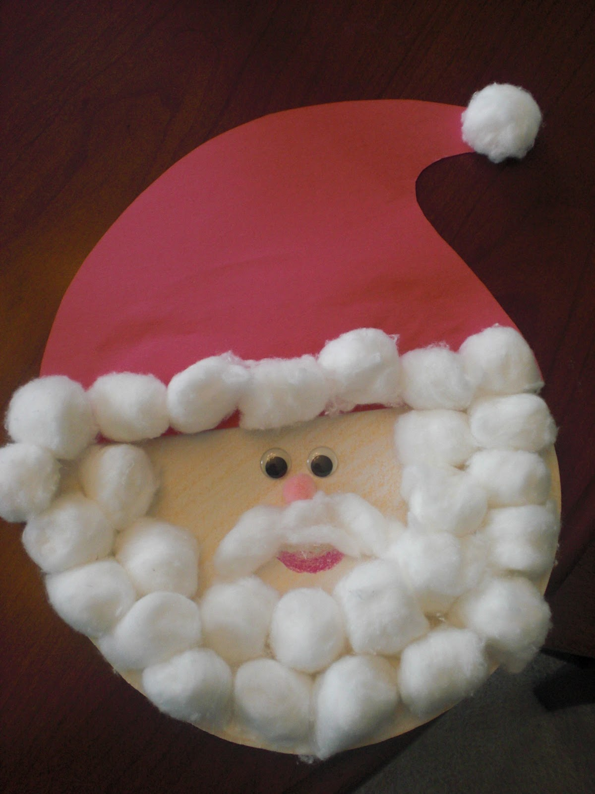 Paper Plate Santa Claus & Because I Said So (and Other Mommyisms): Paper Plate Santa Claus