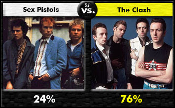 Sex Pistols vs. The Clash