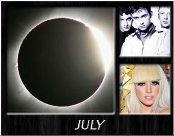 Solar Eclipse, Blur, Lady Gaga