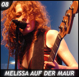 Melissa Auf Der Maur and her Plectrum