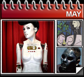 Jared Woods May 2010: Janelle Monae The ArchAndroid, Picasso Nude Green Leaves Bust sold, Paul Gray dies