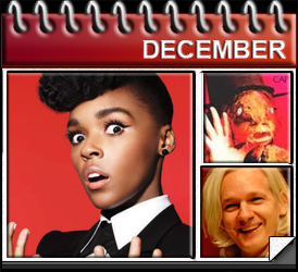 Jared Woods December 2010: Met Janelle Monae, Captain Beefheart Dies, Julian Assange goes to jail